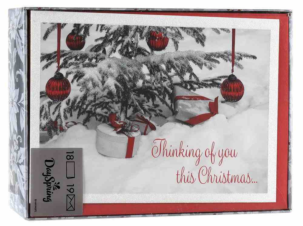 Christmas Boxed Cards: Thinking of You This Christmas (Matt 2:11 Kjv) Stationery