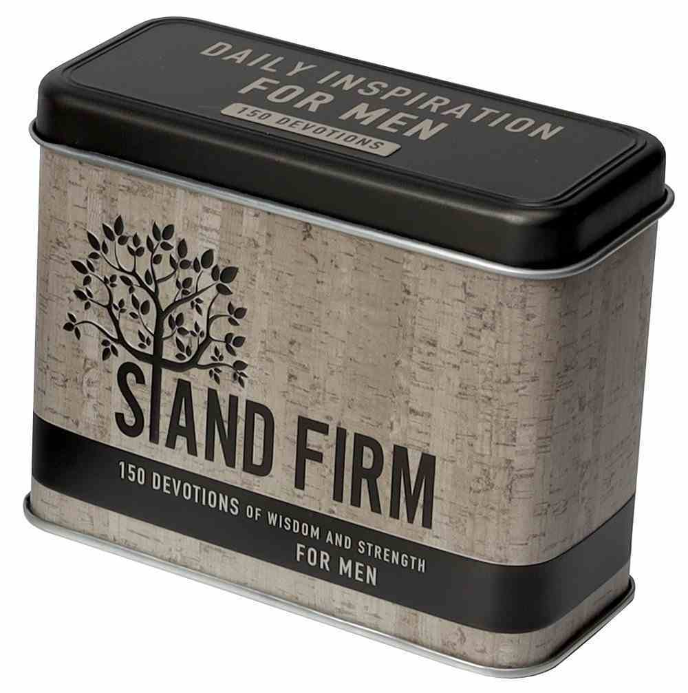 Devotional Cards in Tin: Stand Firm, Daily Inspiration For Men Box