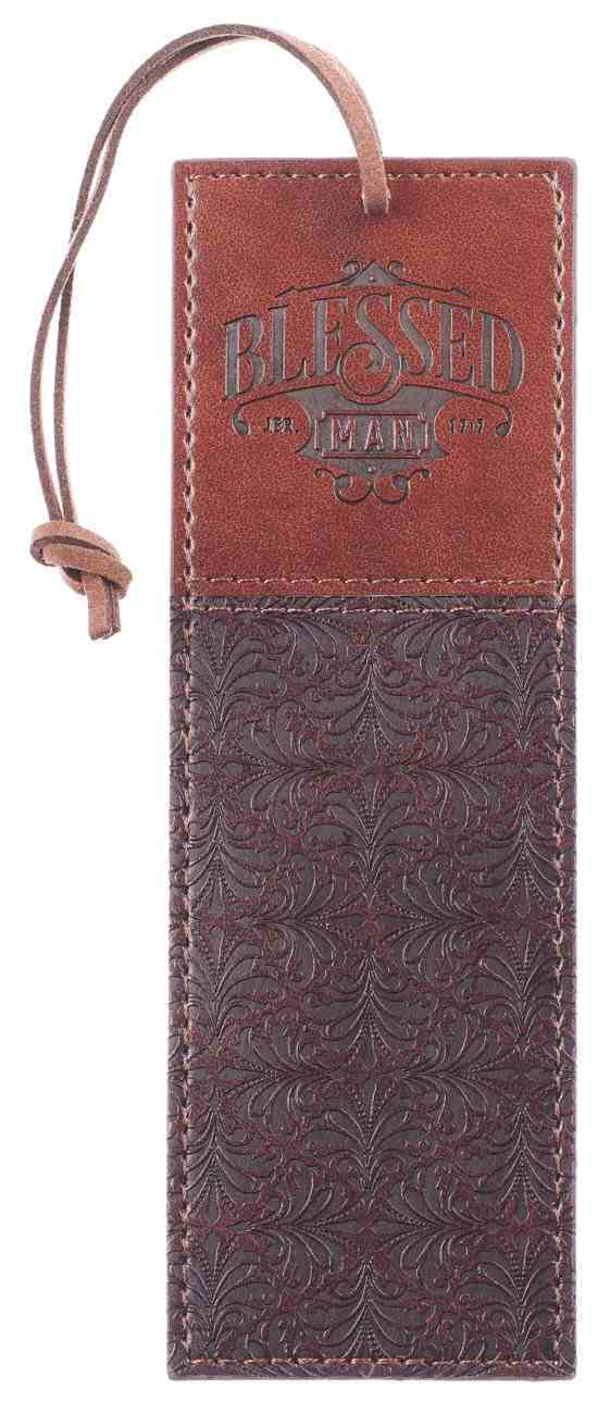 Bookmark Brown With Cord (Jer 17: 7) (Blessed Man Collection) Imitation Leather