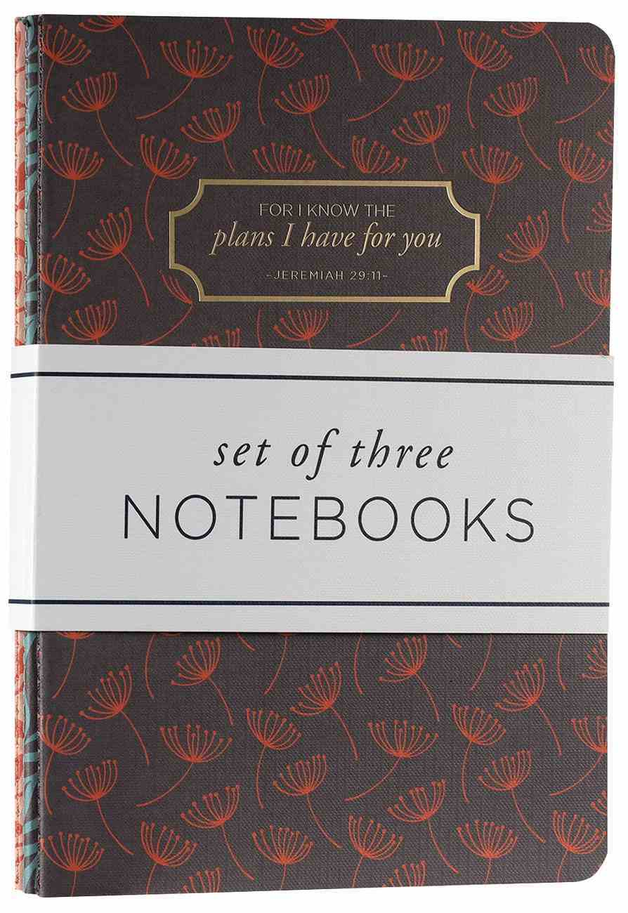 Notebook: Plans (Jer 29:11) Two Tone (Set Of 3) Paperback