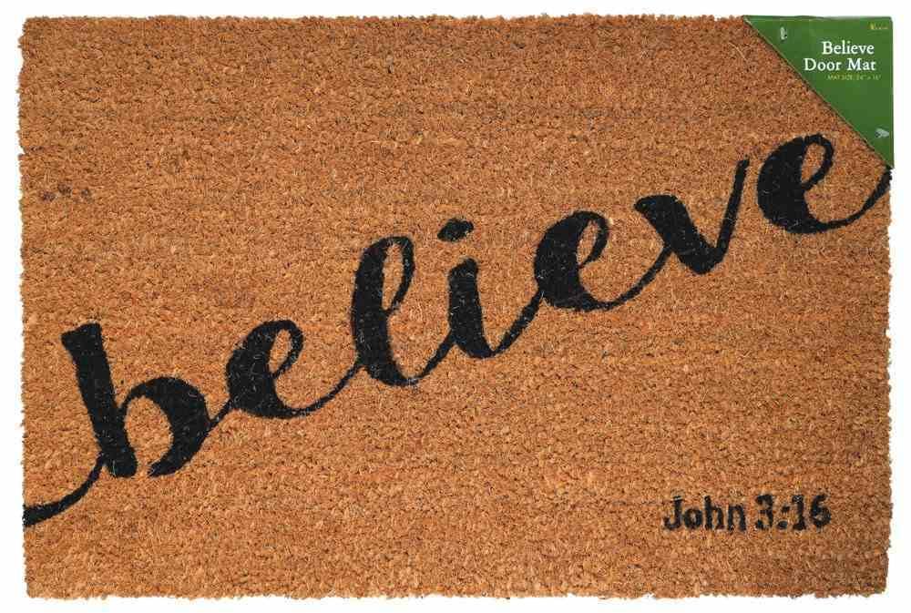 Door Mat: Believe (John 3:16) Homeware