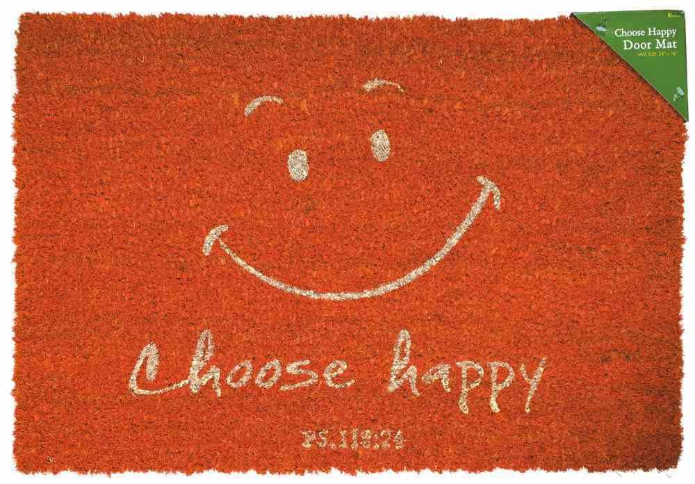 Door Mat: Choose Happy (Psalm 118:24) Homeware