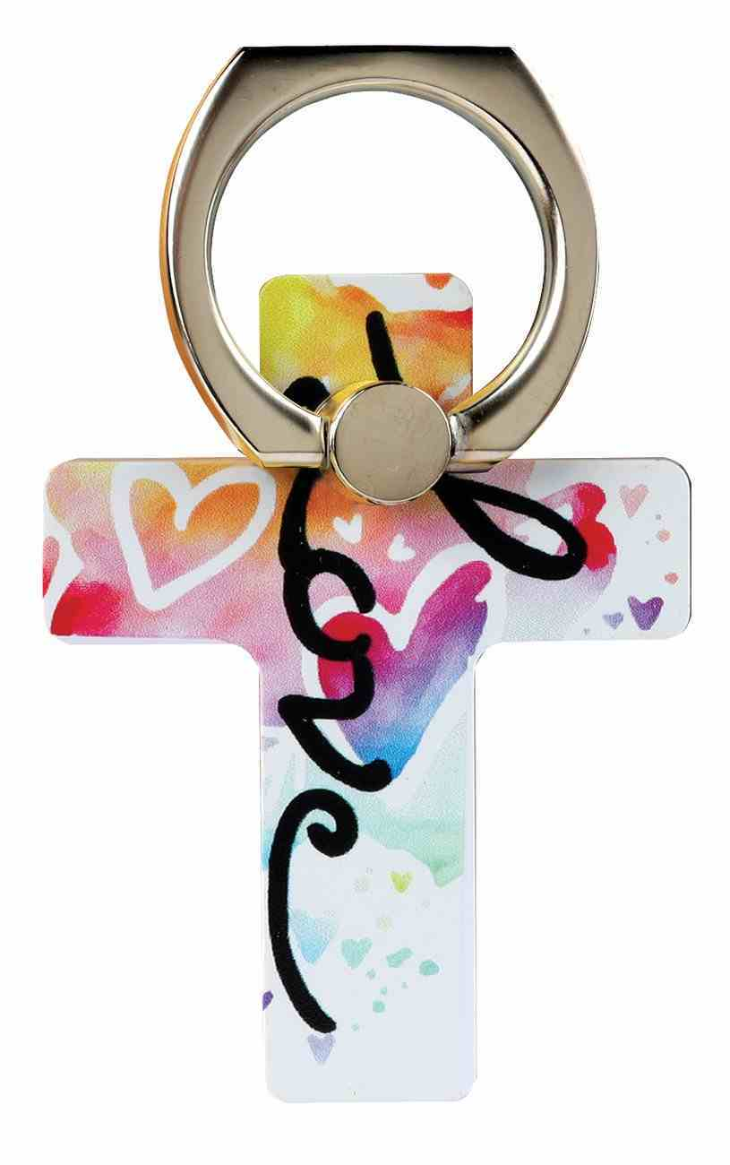 Mobile Phone Cross Ring Holder/Stand: Love Undefined