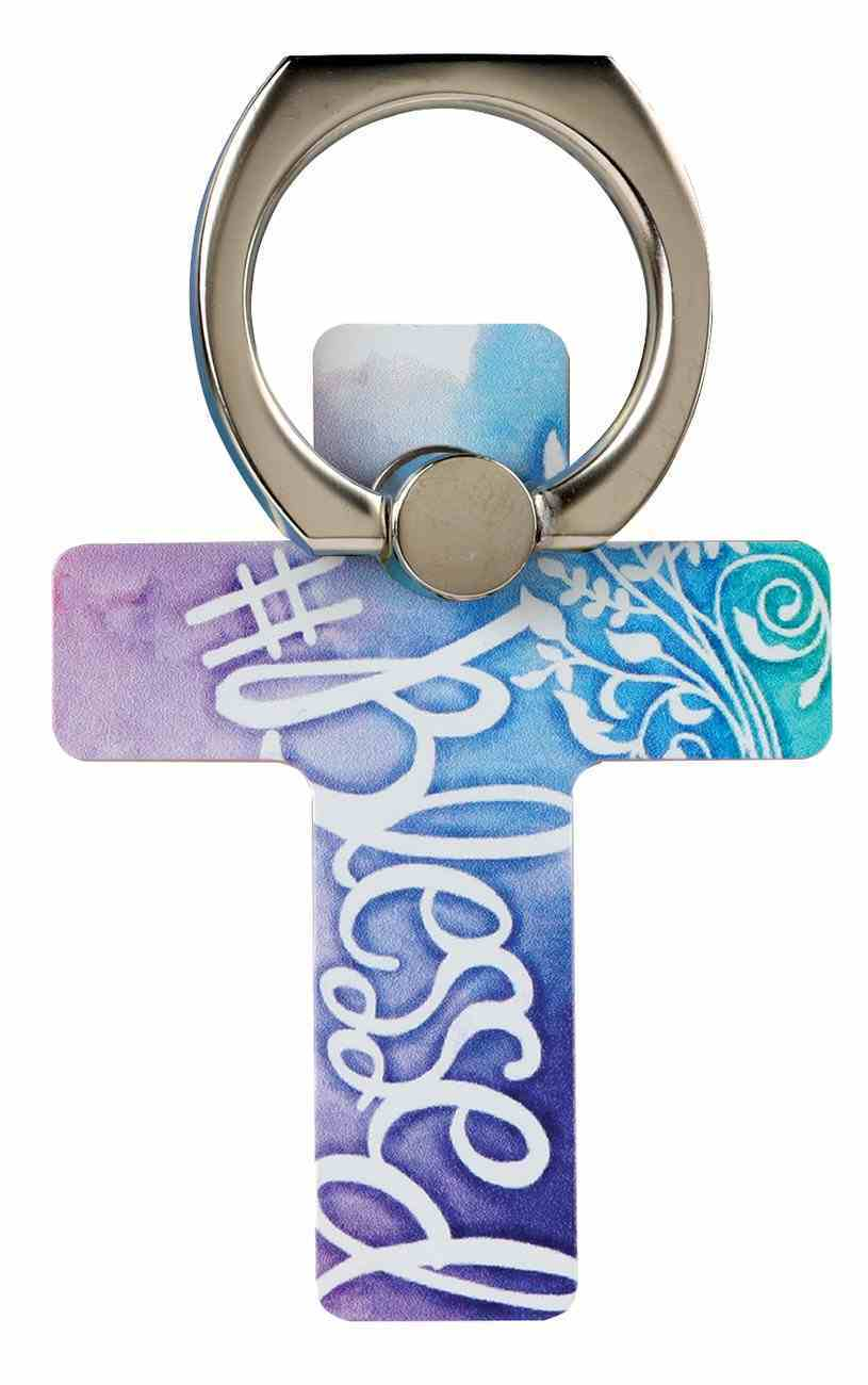 Mobile Phone Cross Ring Holder/Stand: Blessed Undefined