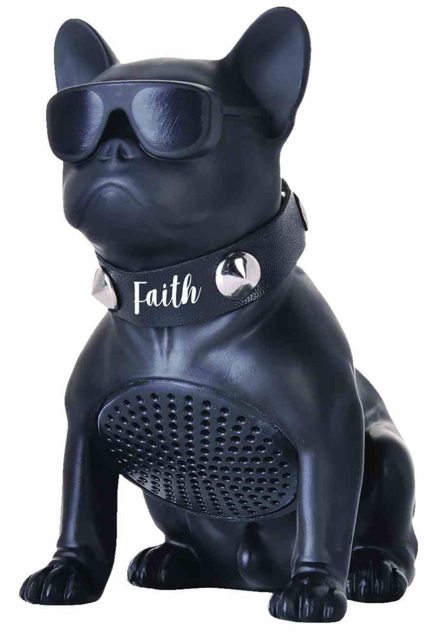 Mang: Bluetooth Bulldog Speaker, Black, Faith, 1 Timothy 6:12 Novelty