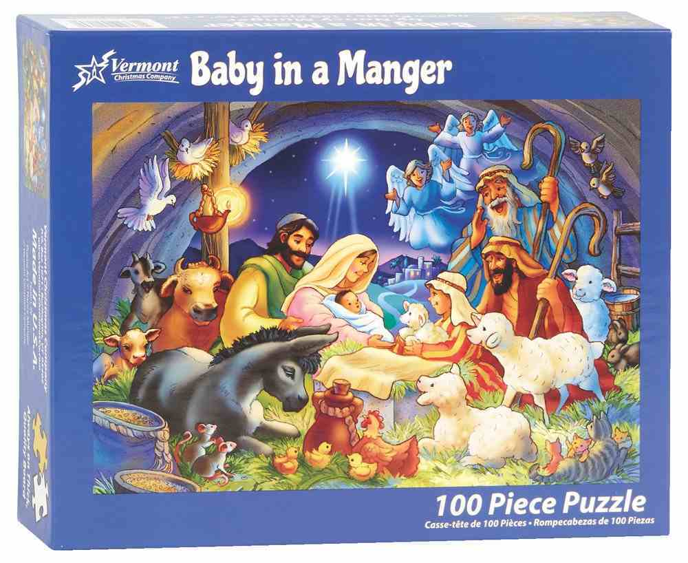 Christmas Jigsaw Puzzle Baby in a Manger (100 Pieces) General Gift