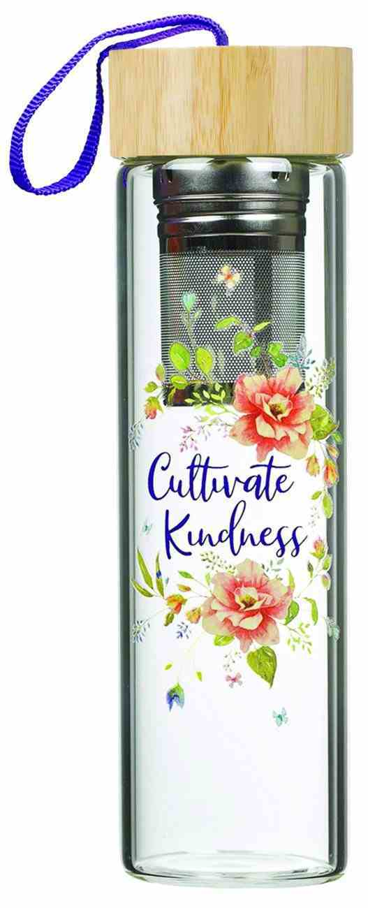Glass Infuser Water Bottle Cultivate Kindness (444ml) (Cultivate Kindness Collection) Homeware