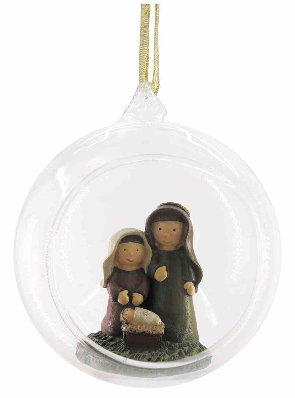 Glass Ball With Holy Family Ornament Homeware