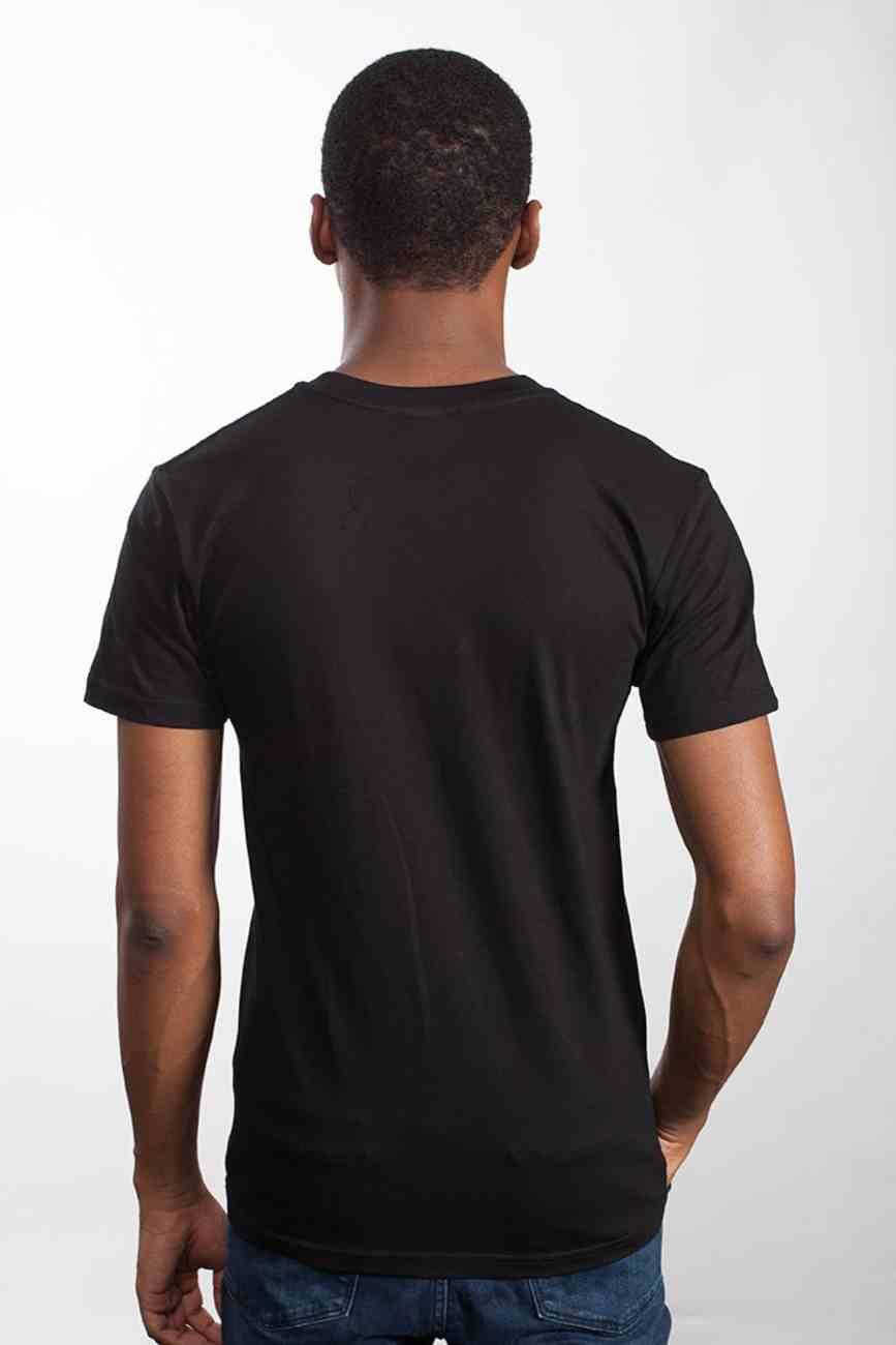 Mens Staple Tee: Stand Firm, Medium, Black With White Print (Abide T-shirt Apparel Series) Soft Goods