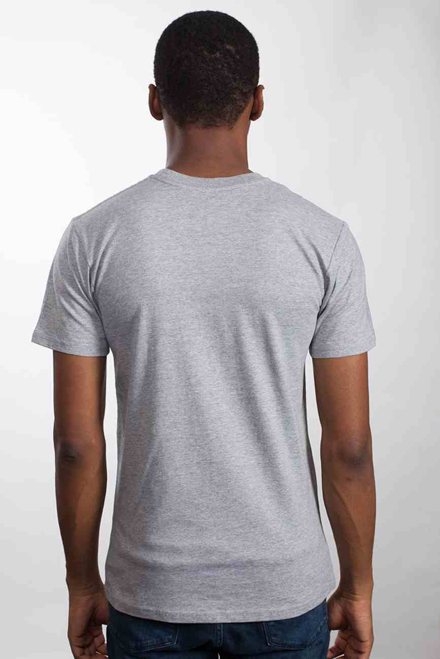 Mens Staple Tee: Seek First, Small, Grey Marle With Black Print (Abide T-shirt Apparel Series) Soft Goods