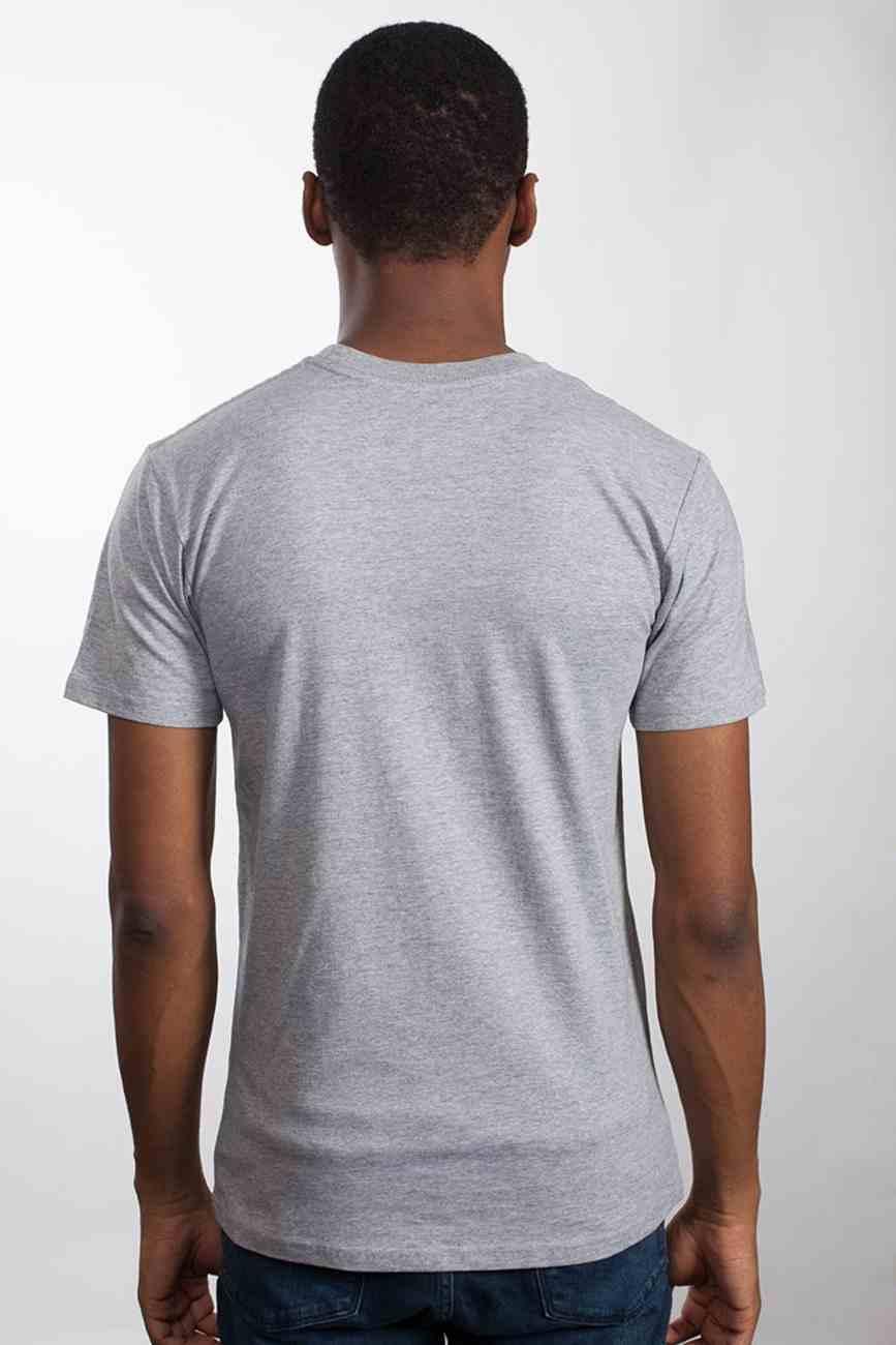 Mens Staple Tee: Seek First, Xlarge, Grey Marle With Black Print (Abide T-shirt Apparel Series) Soft Goods