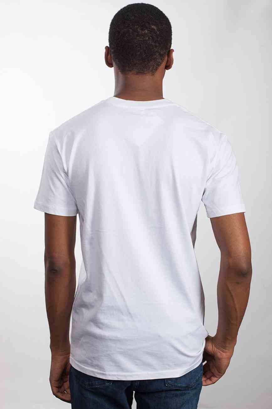 Mens Staple Tee: Faith Over Fear, Small, White With Black Print (Abide T-shirt Apparel Series) Soft Goods
