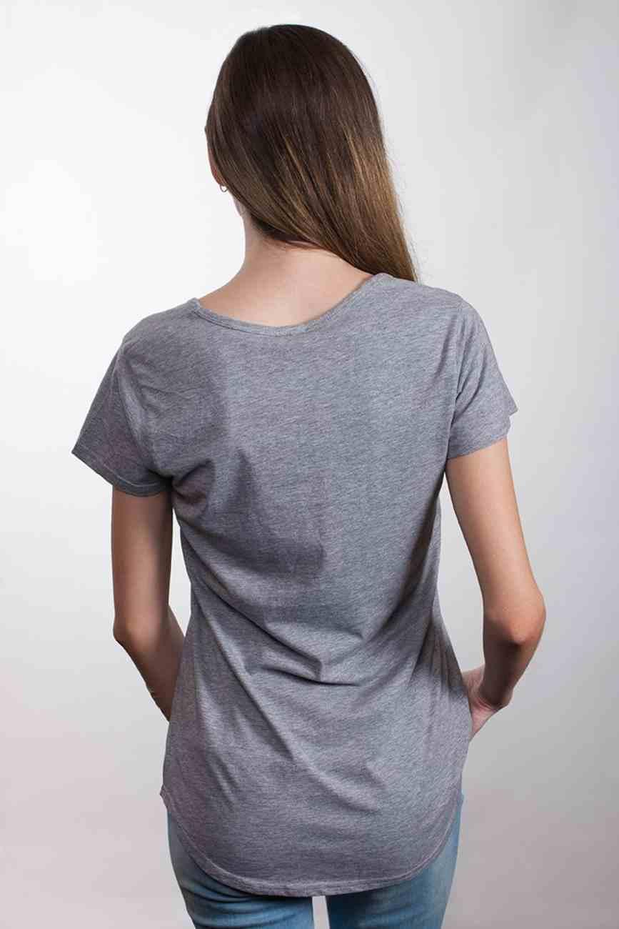 Womens Mali Tee: Grace Wins, Medium, Grey Marle With White Print (Abide T-shirt Apparel Series) Soft Goods