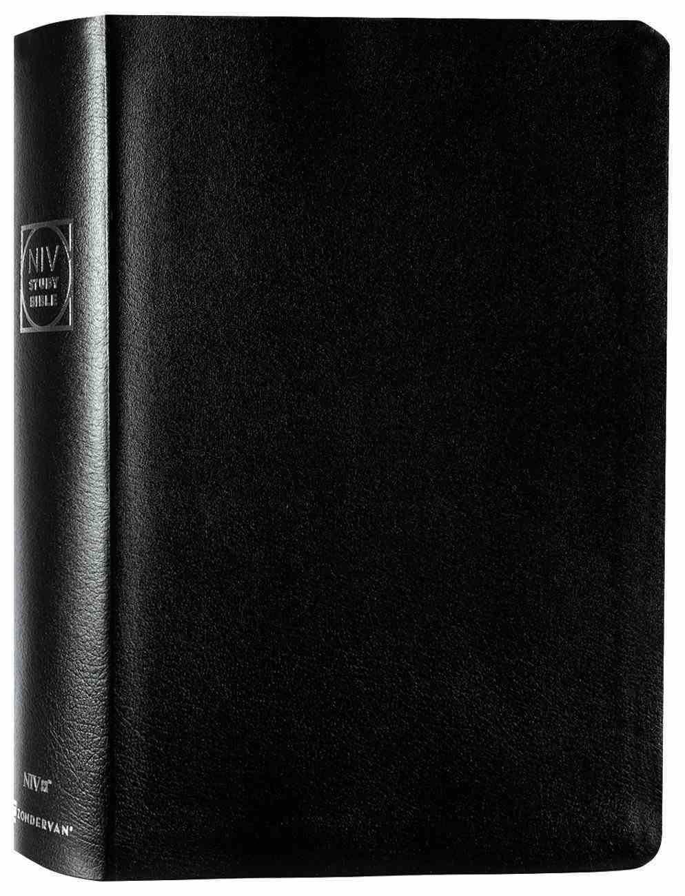 NIV Study Bible Black Indexed (Red Letter Edition) Fully Revised Edition (2020) Bonded Leather