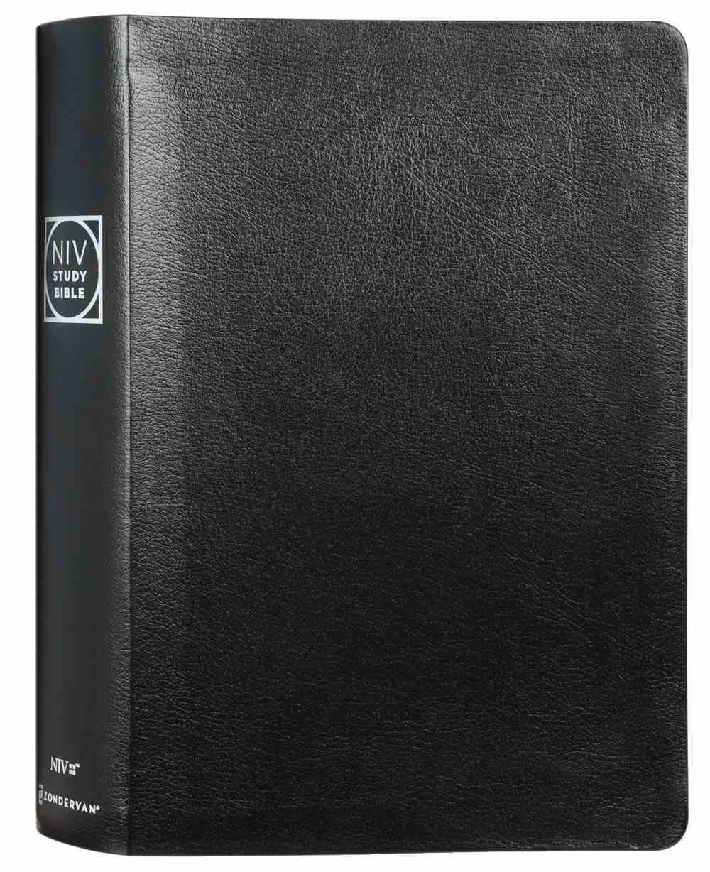 NIV Study Bible Large Print Black Indexed (Red Letter Edition) Fully Revised Edition (2020) Bonded Leather