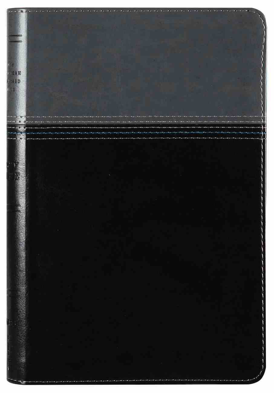 NASB Thinline Bible Black/Grey 1995 Text (Red Letter Edition) Premium Imitation Leather