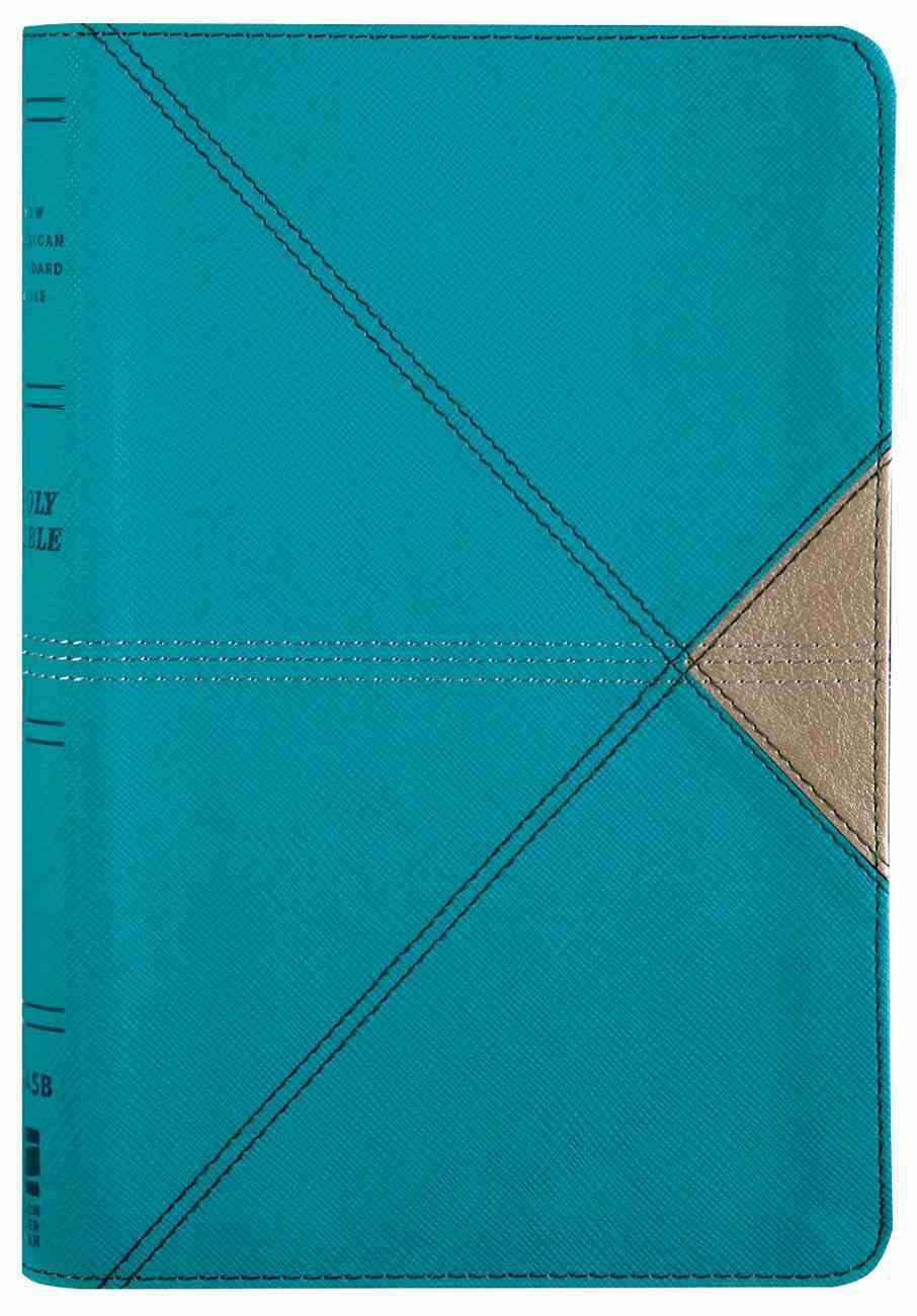 NASB Thinline Bible Teal 1995 Text (Red Letter Edition) Premium Imitation Leather