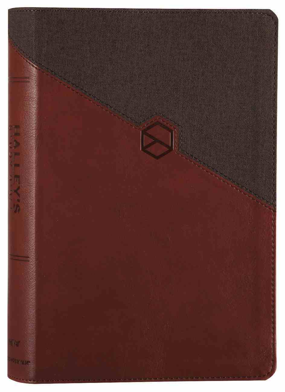 NIV Halley's Study Bible Brown (Red Letter Edition) Premium Imitation Leather