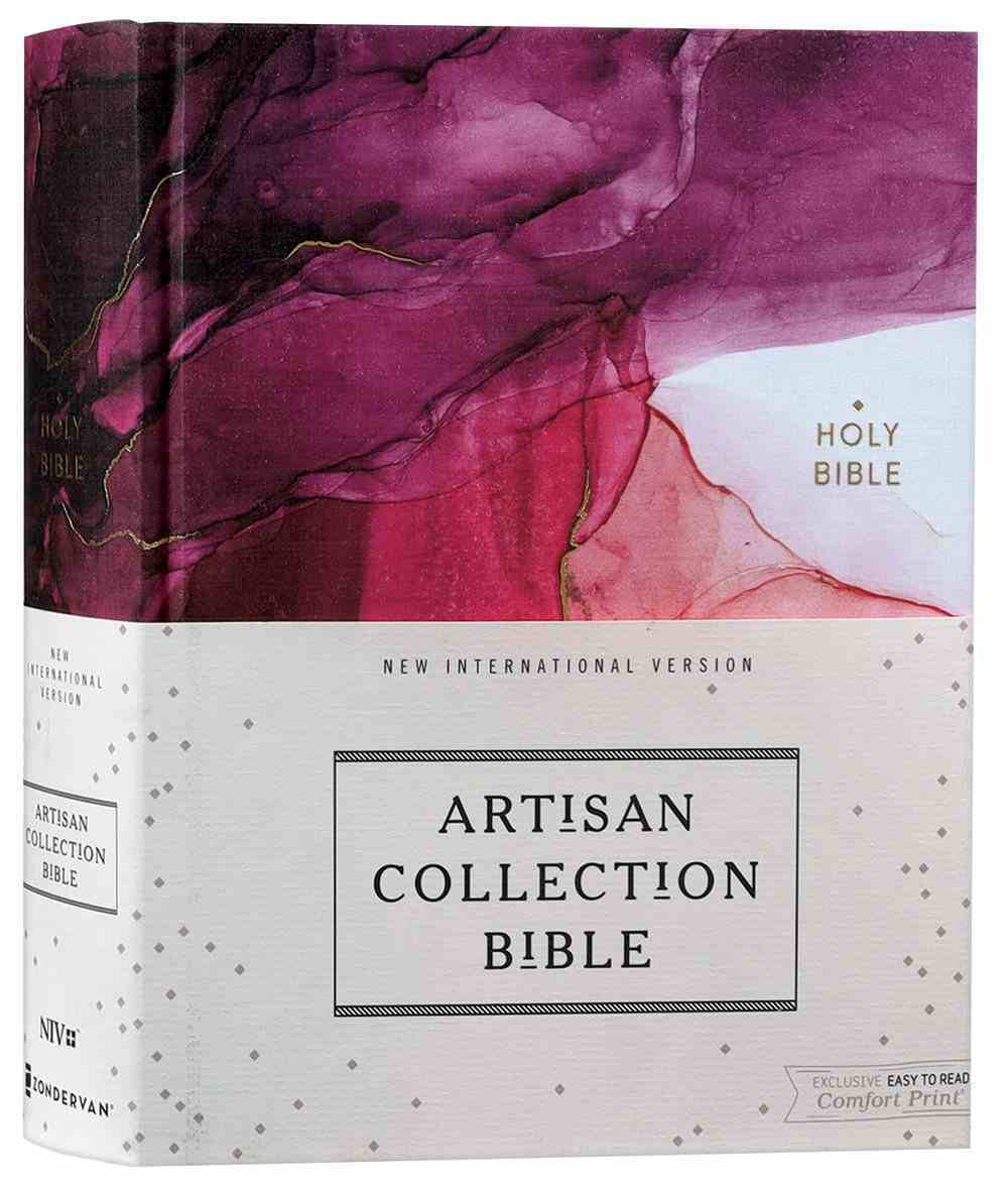 NIV Artisan Collection Bible Pink (Red Letter Edition) Fabric Over Hardback