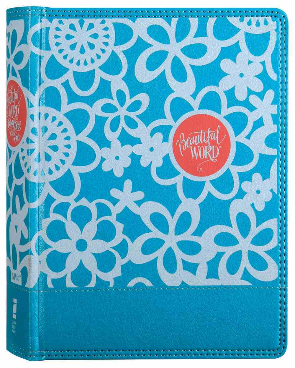 NIV Beautiful Word Coloring Bible For Girls Teal (Black Letter Edition) Premium Imitation Leather