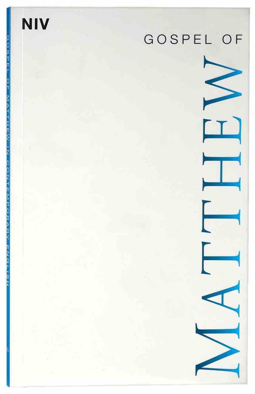 NIV Gospel of Matthew Paperback