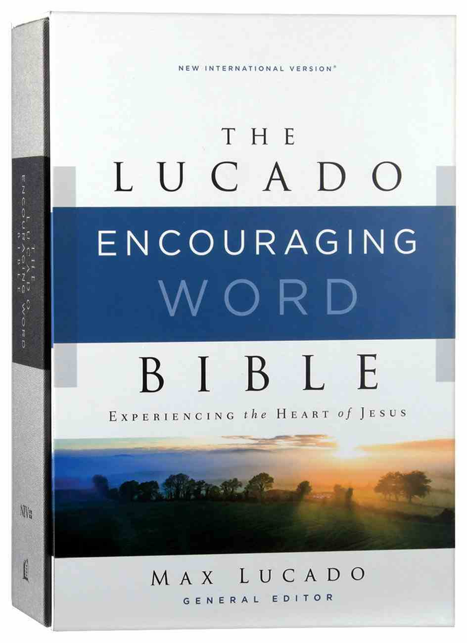 NIV Lucado Encouraging Word Bible Gray Fabric Over Hardback