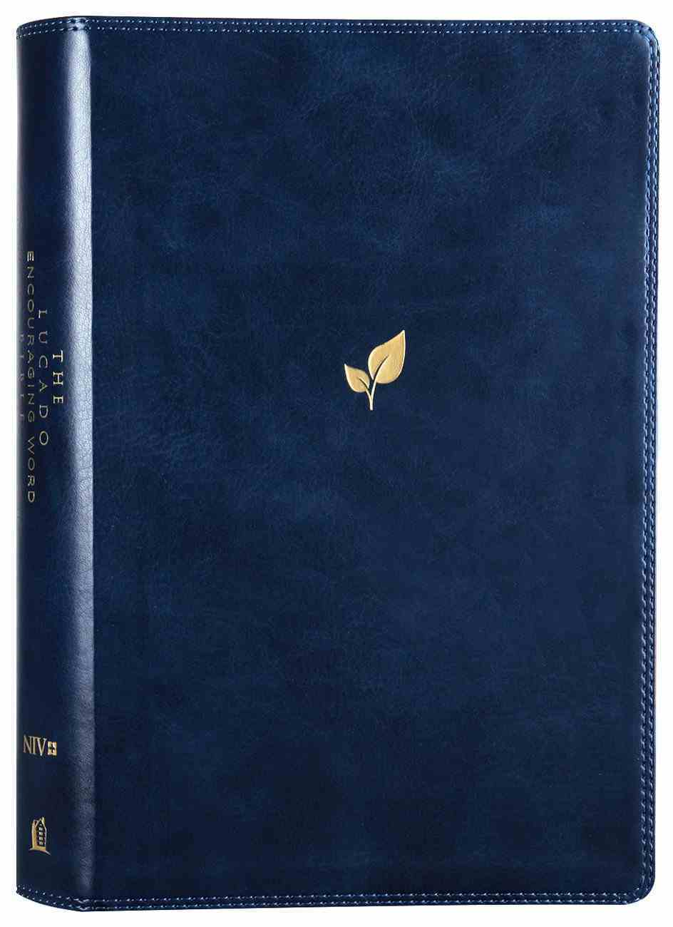 NIV Lucado Encouraging Word Bible Blue Premium Imitation Leather