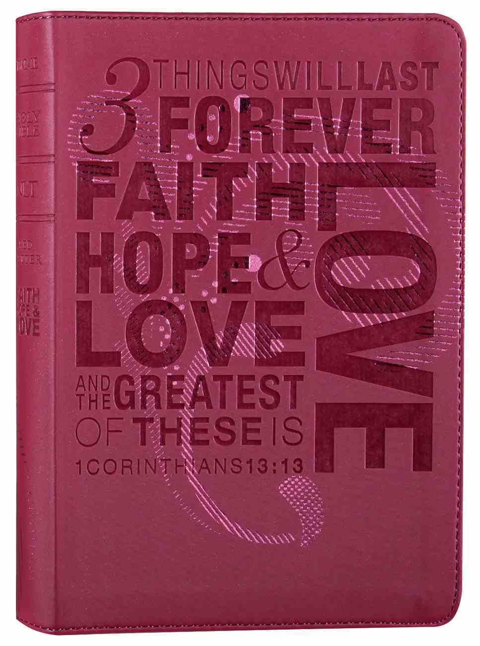 NLT Teen Slimline Bible 1 Cor 13 Hot Pink (Black Letter Edition) Imitation Leather