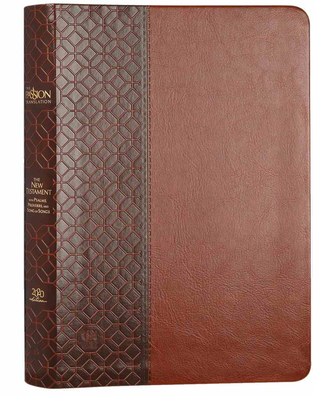 TPT New Testament Large Print Brown (Black Letter Edition) (With Psalms, Proverbs And The Song Of Songs) Imitation Leather
