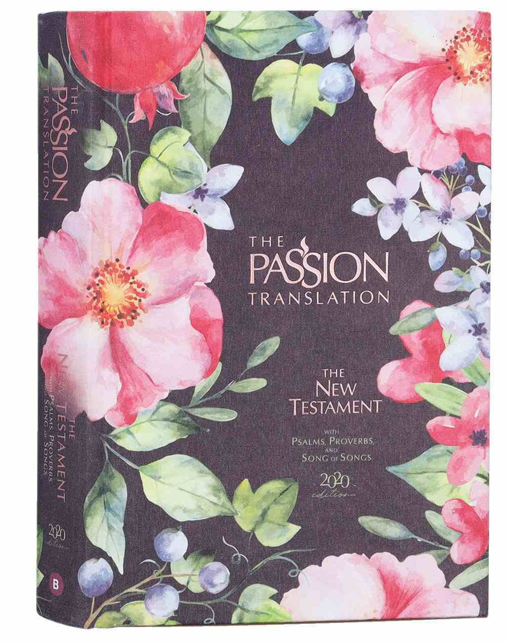 TPT New Testament Berry Blossoms (Black Letter Edition) (With Psalms, Proverbs And The Song Of Songs) Fabric Over Hardback