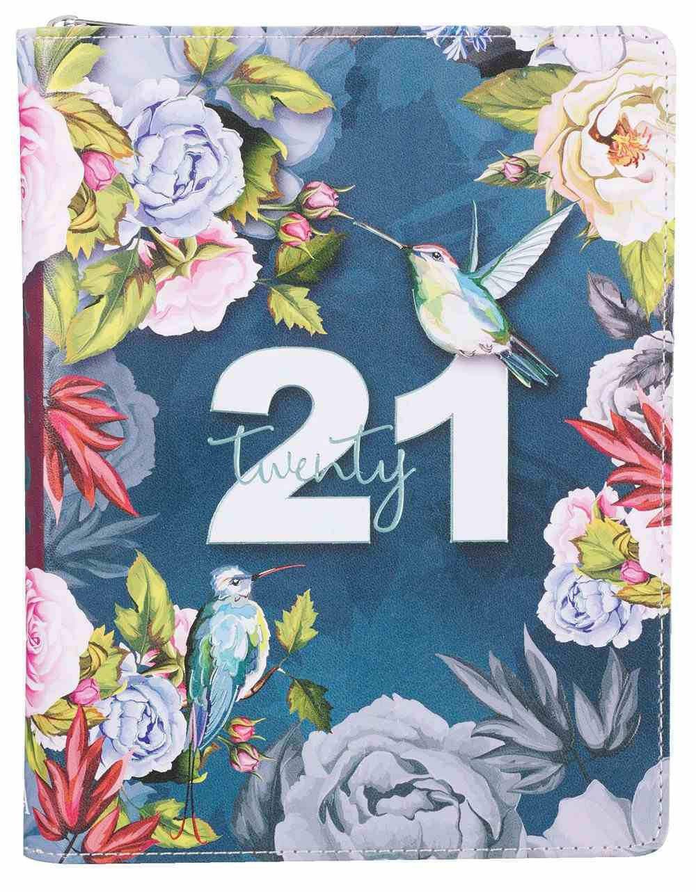 2021 12-Month Daily Diary/Planner For Women (Zippered) Imitation Leather