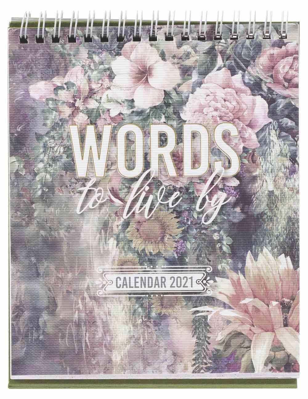 2021 Desktop Calendar: Words to Live By Calendar