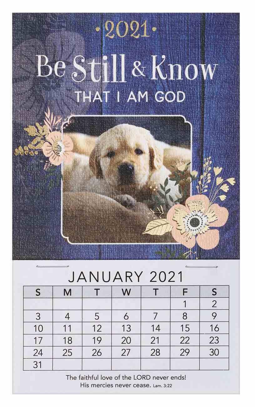 2021 Mini Magnetic Calendar: Be Still & Know That I Am God Calendar