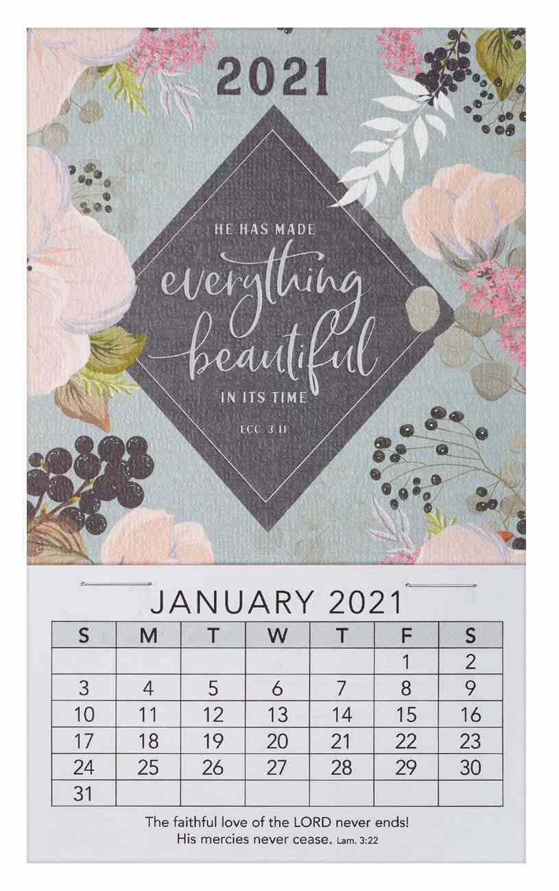 2021 Mini Magnetic Calendar: He Has Made Everything Beautiful in Its Time Calendar