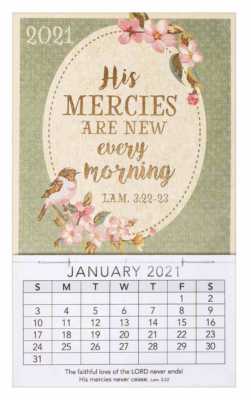 2021 Mini Magnetic Calendar: His Mercies Are New Every Morning Calendar