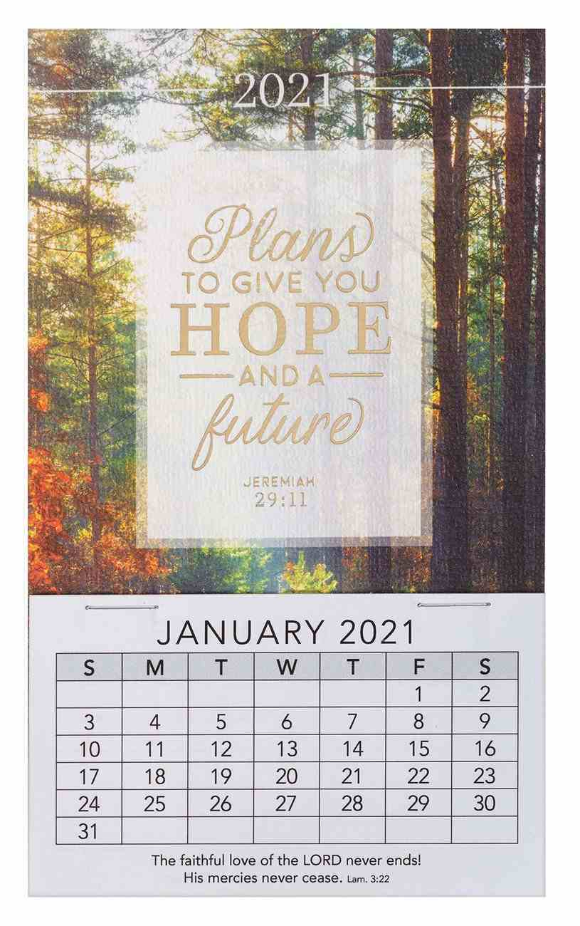 2021 Mini Magnetic Calendar: Plans to Give You Hope and a Future Calendar