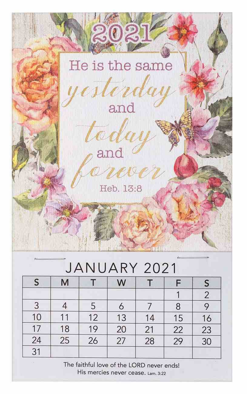 2021 Mini Magnetic Calendar: He is the Same Yesterday, Today and Forever Calendar