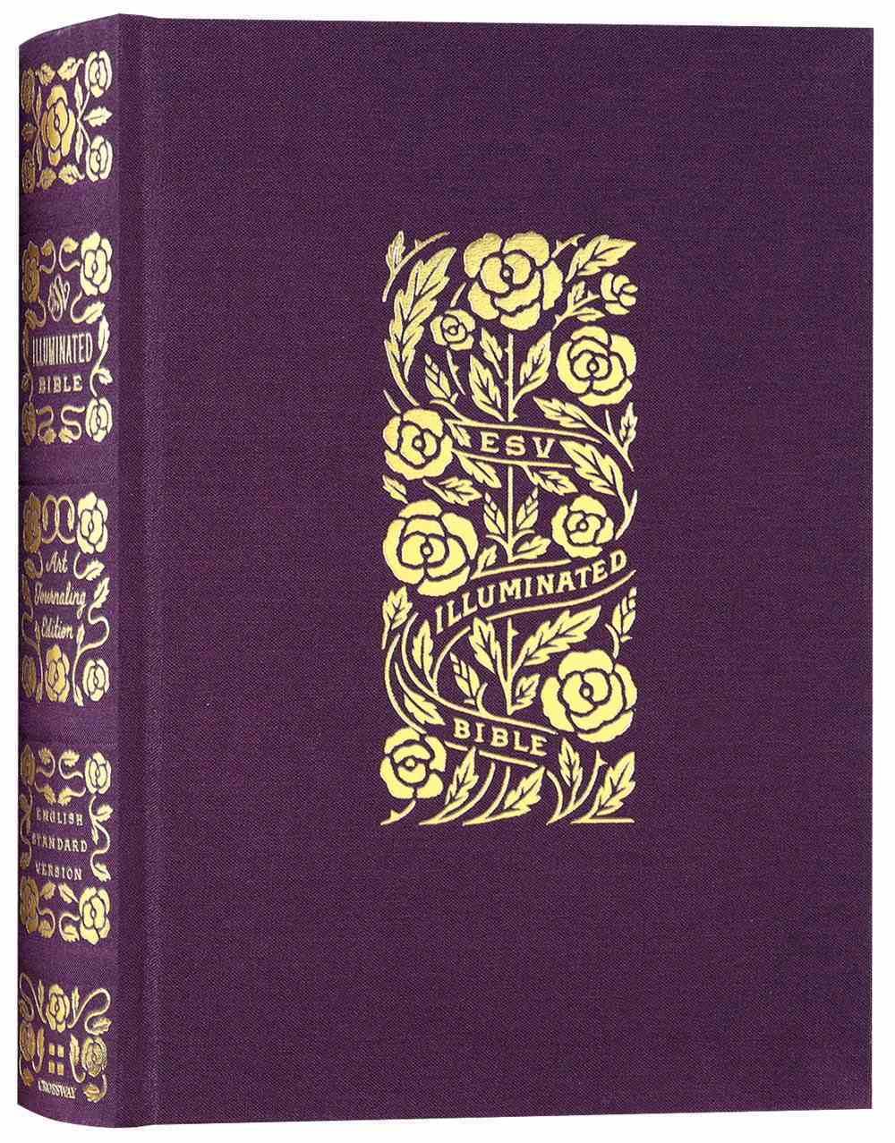 ESV Illuminated Bible Art Journaling Edition Eggplant (Black Letter Edition) Fabric Over Hardback