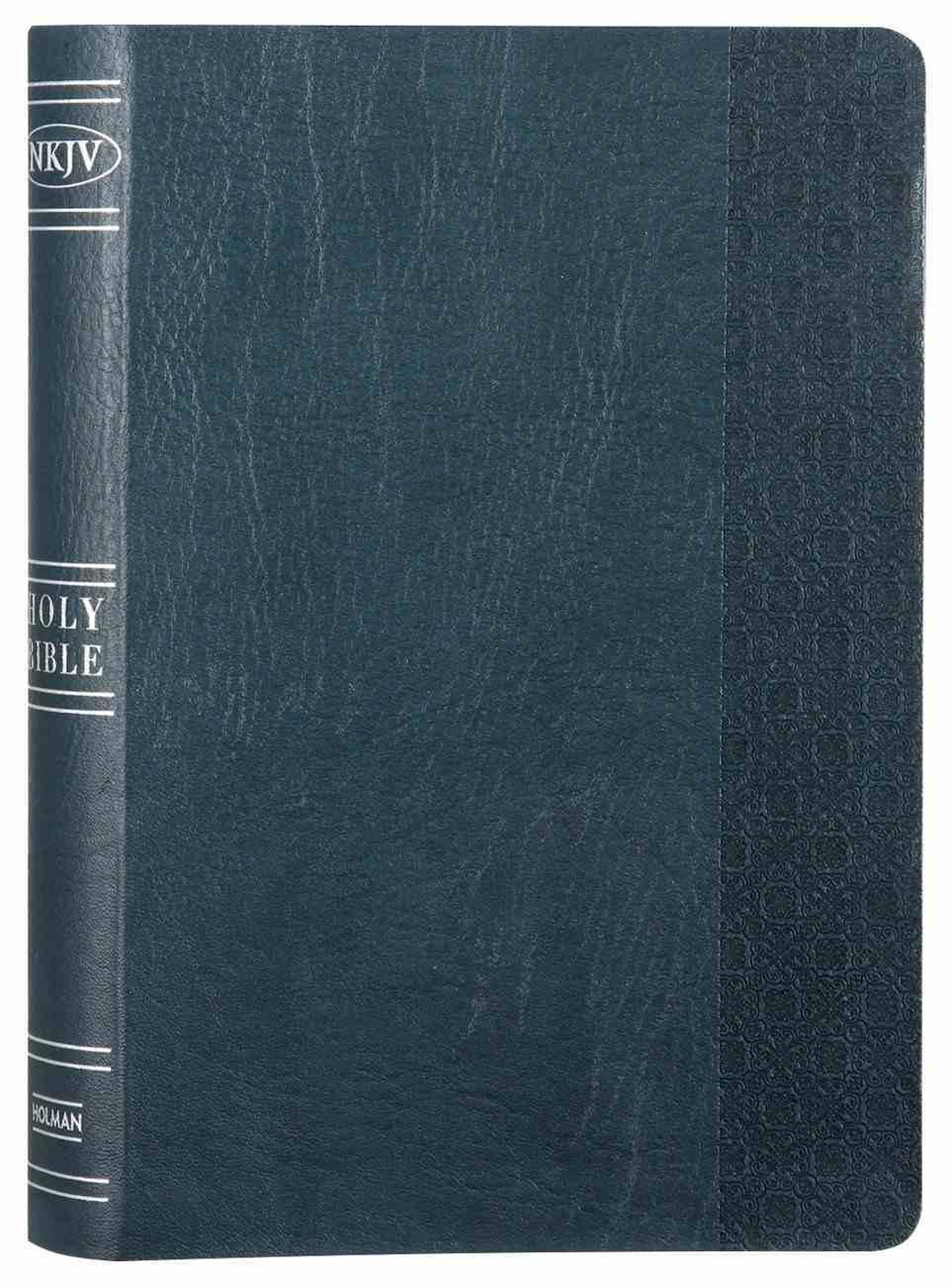 NKJV Large Print Personal Size Reference Bible Slate Blue Premium Imitation Leather