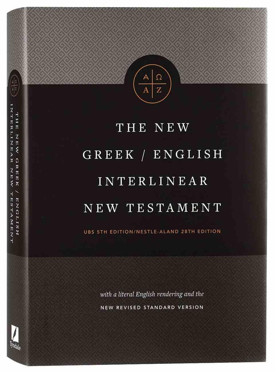 NRSV New Greek-English Interlinear New Testament Usb 5th + Nestle Aland 28Th Edition Hardback