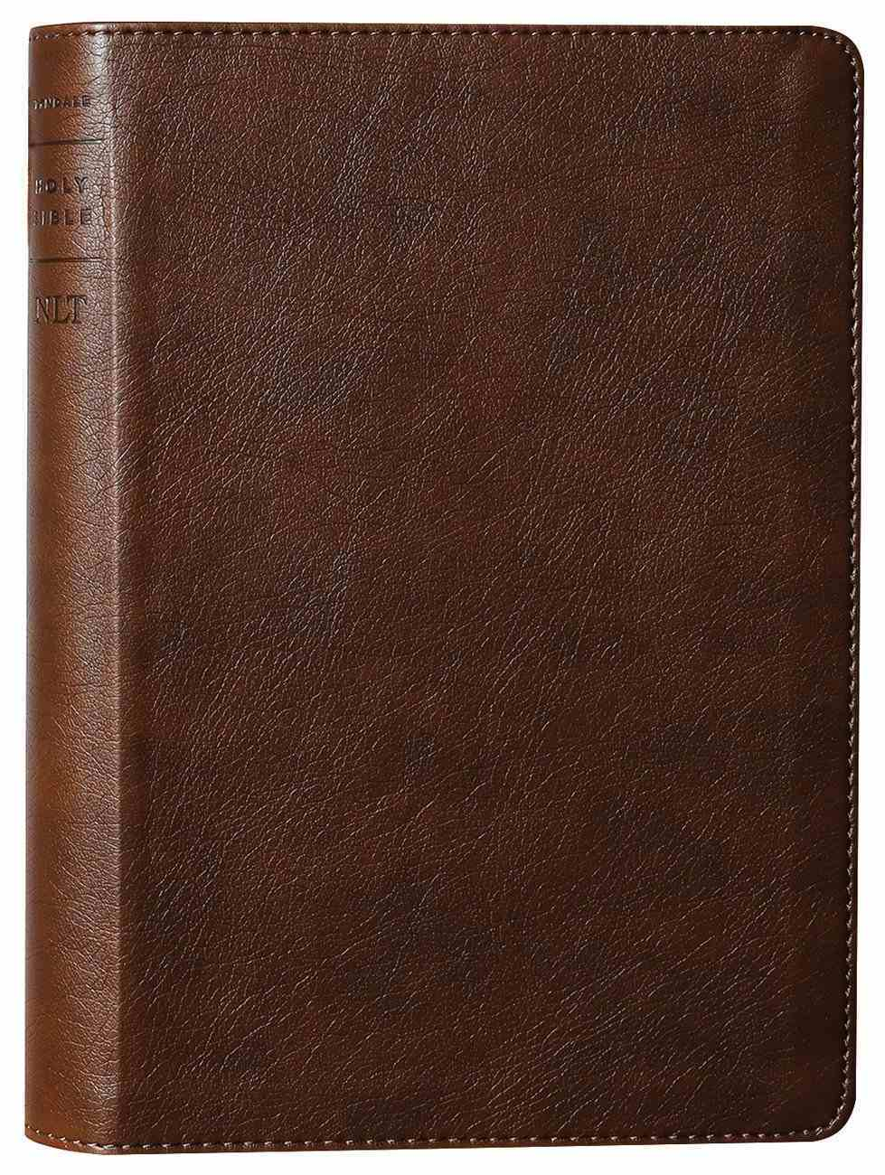 NLT Thinline Reference Bible Rustic Brown Red Letter (Filament Enabled Edition) Imitation Leather