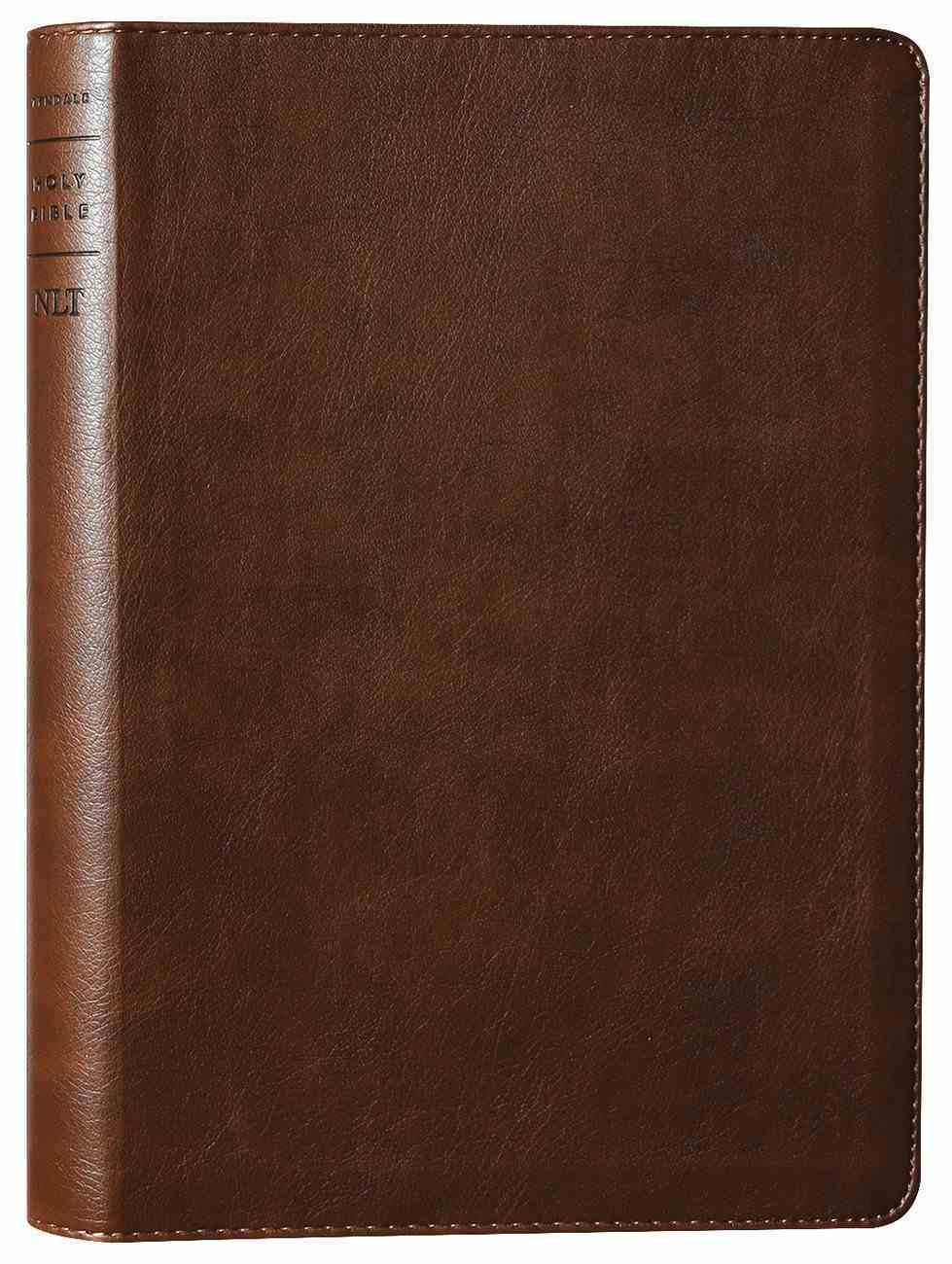 NLT Large Print Thinline Reference Bible Rustic Brown Red Letter (Filament Enabled Edition ) Imitation Leather