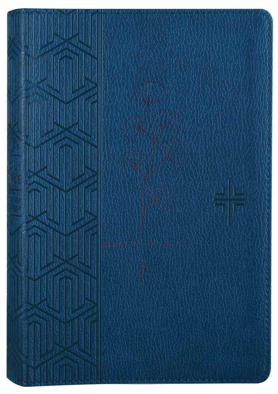 NLT Premium Gift Bible Blue (Red Letter Edition) Imitation Leather