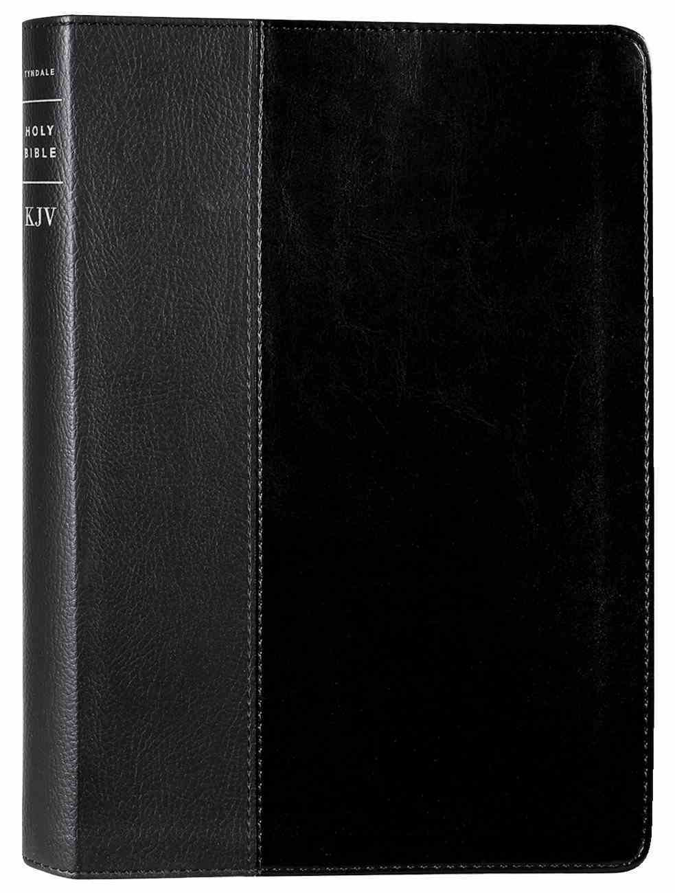 KJV Large Print Thinline Reference Bible Filament Enabled Edition Black & Onyx (Red Letter Edition) Imitation Leather