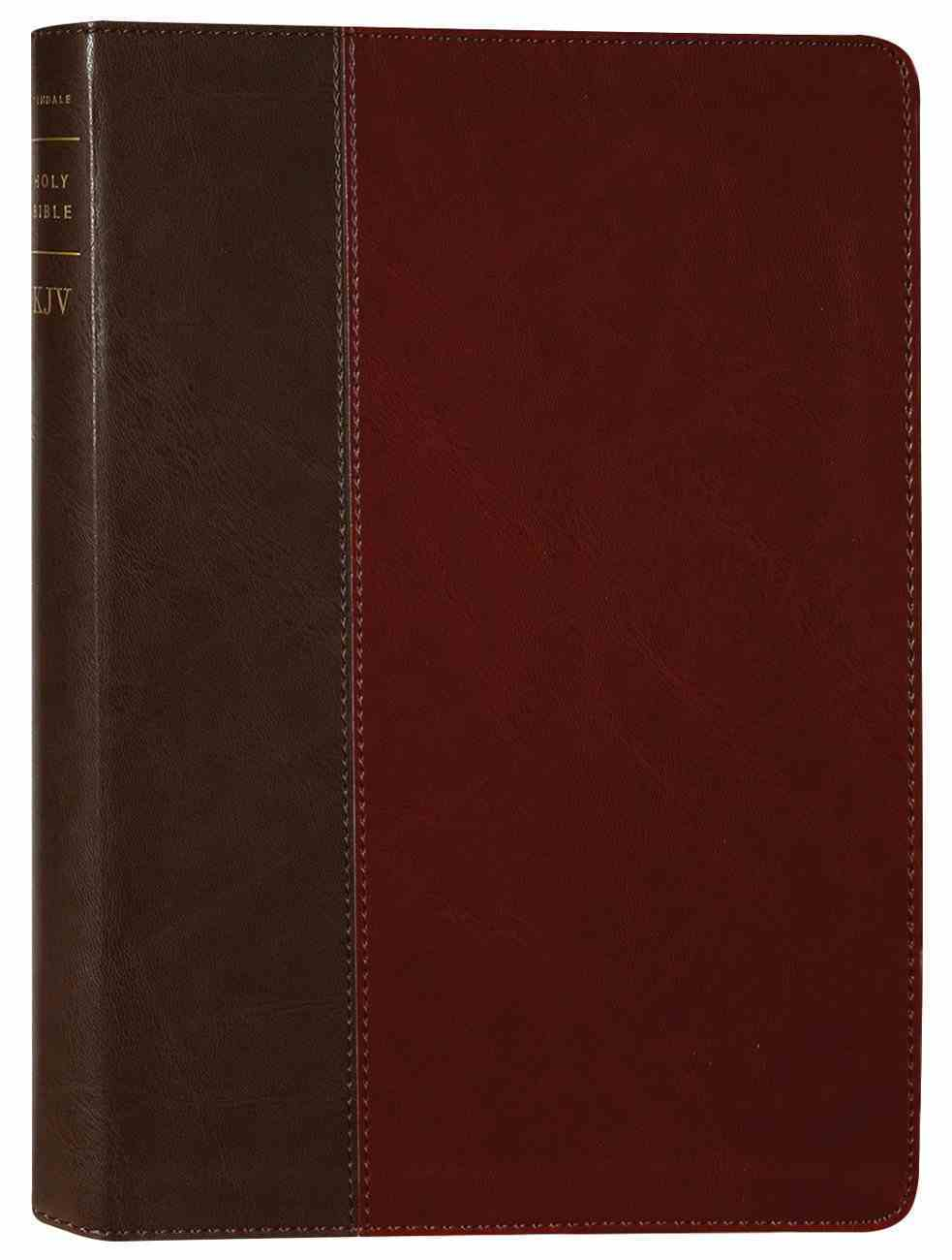 KJV Large Print Thinline Reference Bible Filament Enabled Edition Brown & Mahogany (Red Letter Edition) Imitation Leather