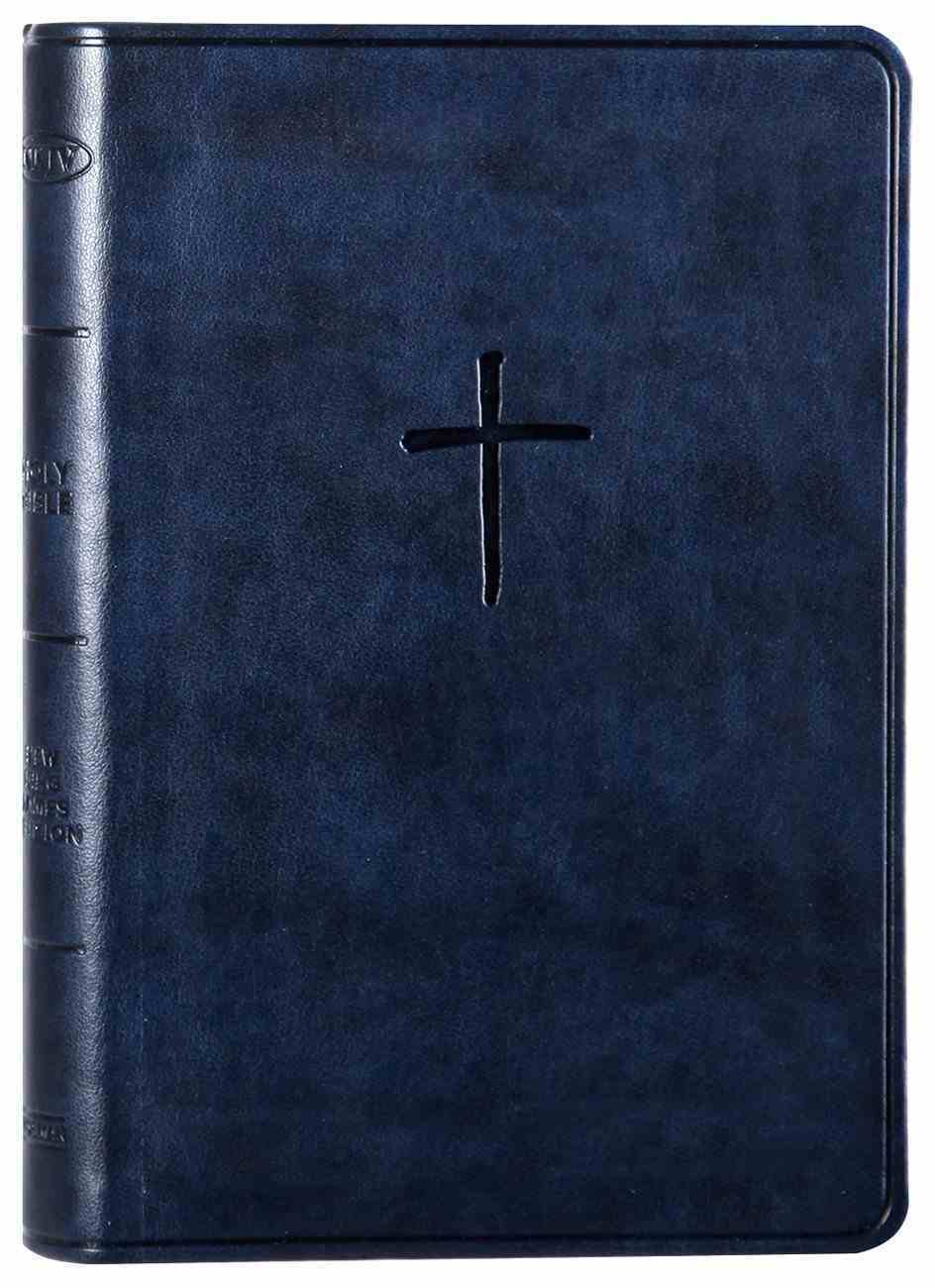 NKJV Compact Bible Navy (Red Letter Edition) Imitation Leather