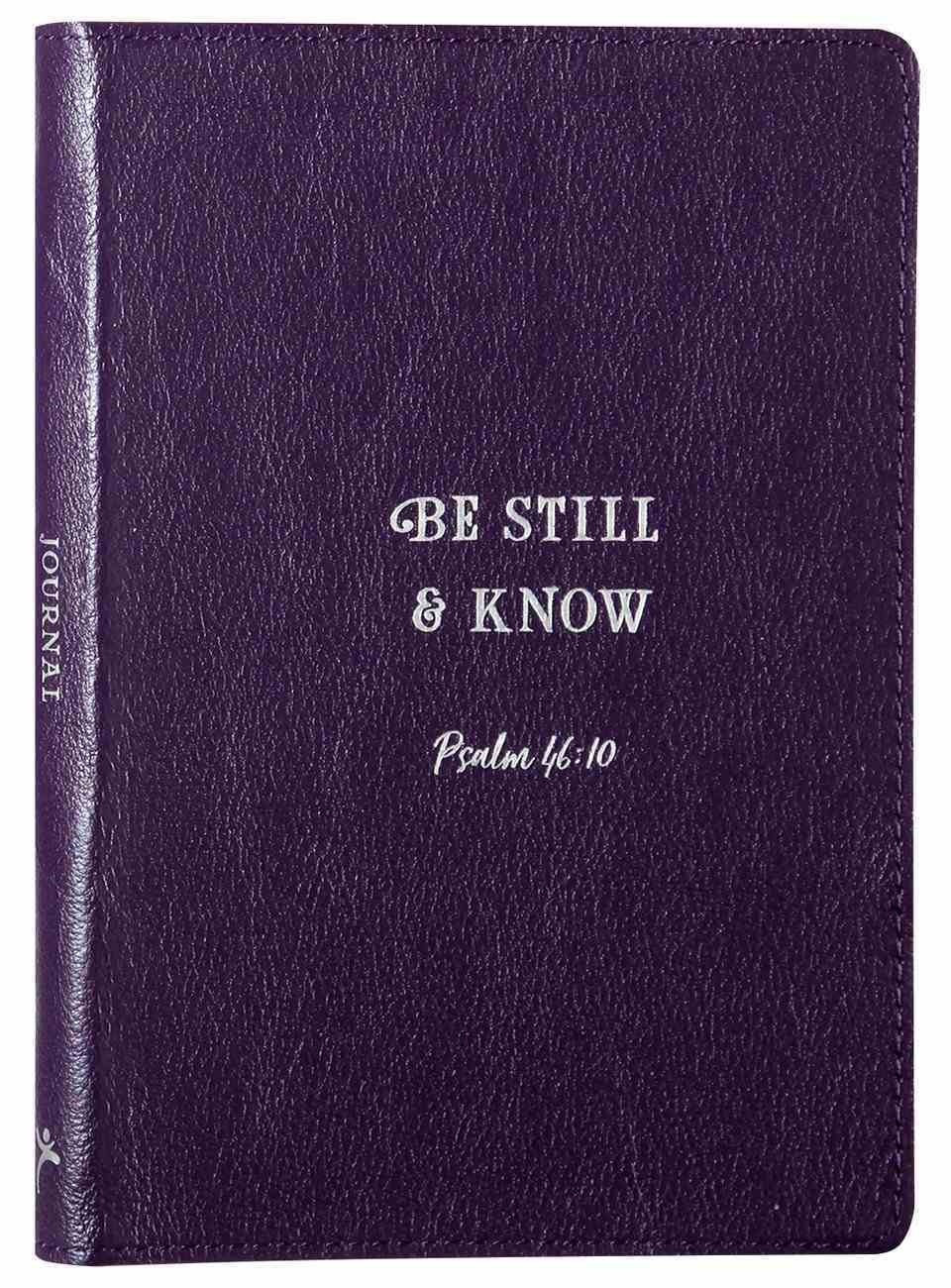 Journal: Be Still & Know, Deep Purple Genuine Leather Genuine Leather