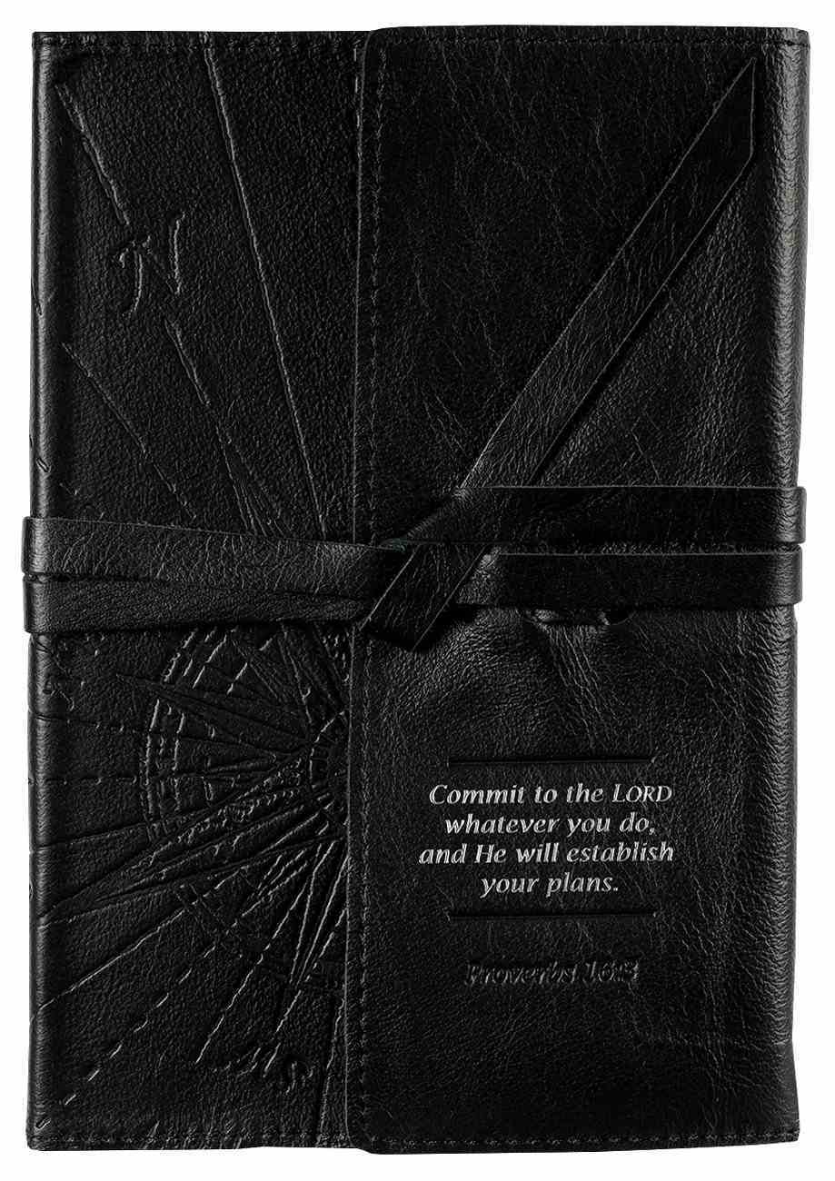 Journal: Genuine Leather With Wrap Closure, Commit to the Lord Genuine Leather