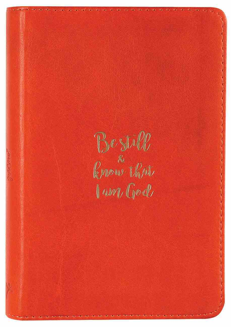 Journal: Genuine Leather Handy-Sized Journal, Be Still and Know Genuine Leather