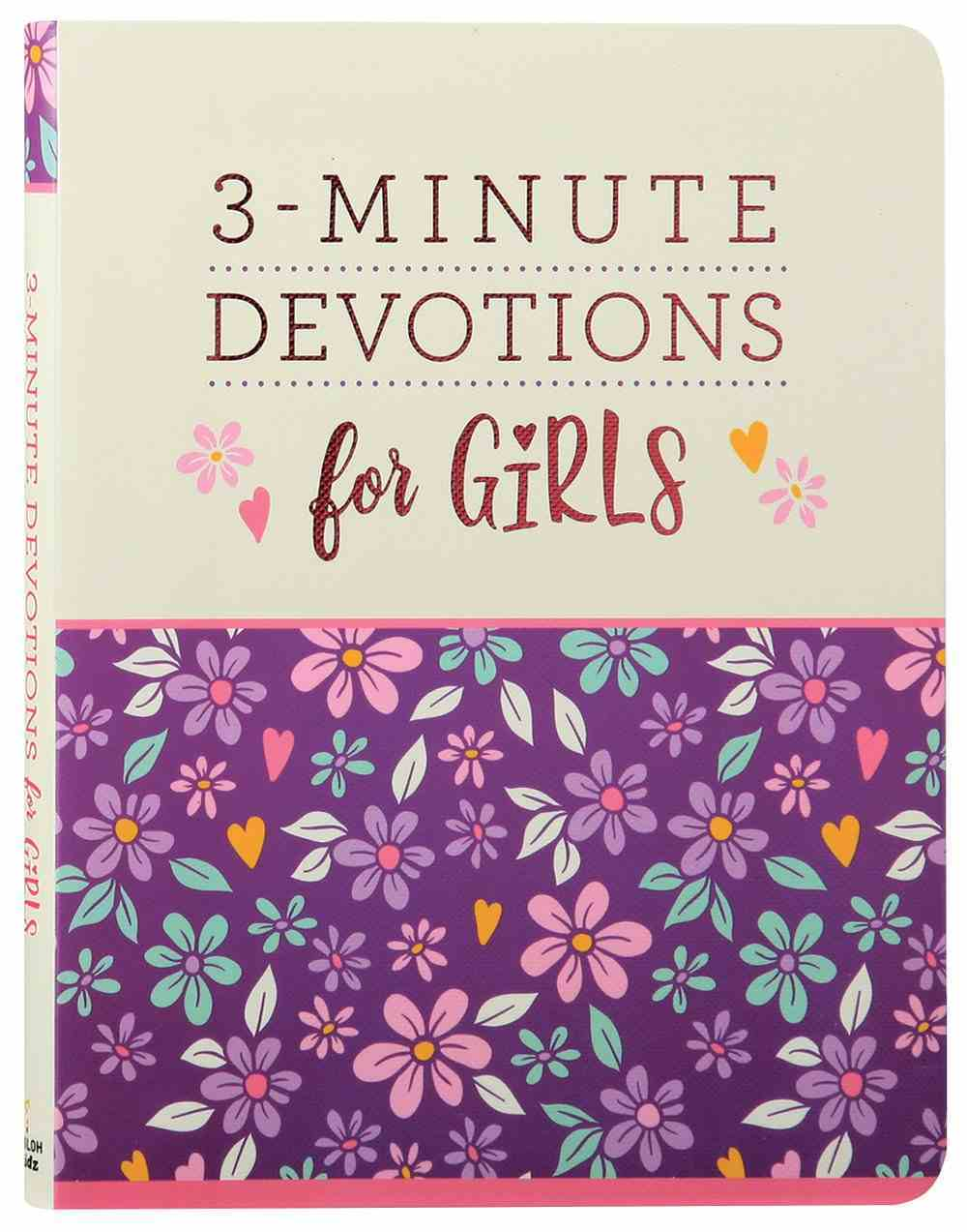 3-Minute Devotions For Girls (3 Minute Devotions Series) Paperback